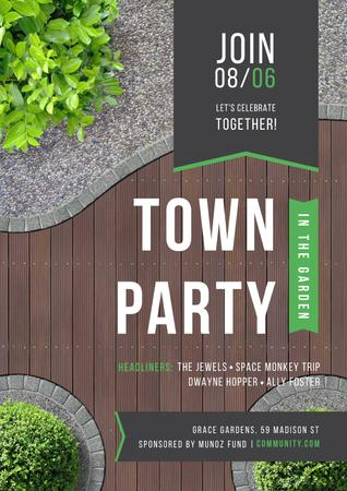 Modèle de visuel Town party in the garden - Poster