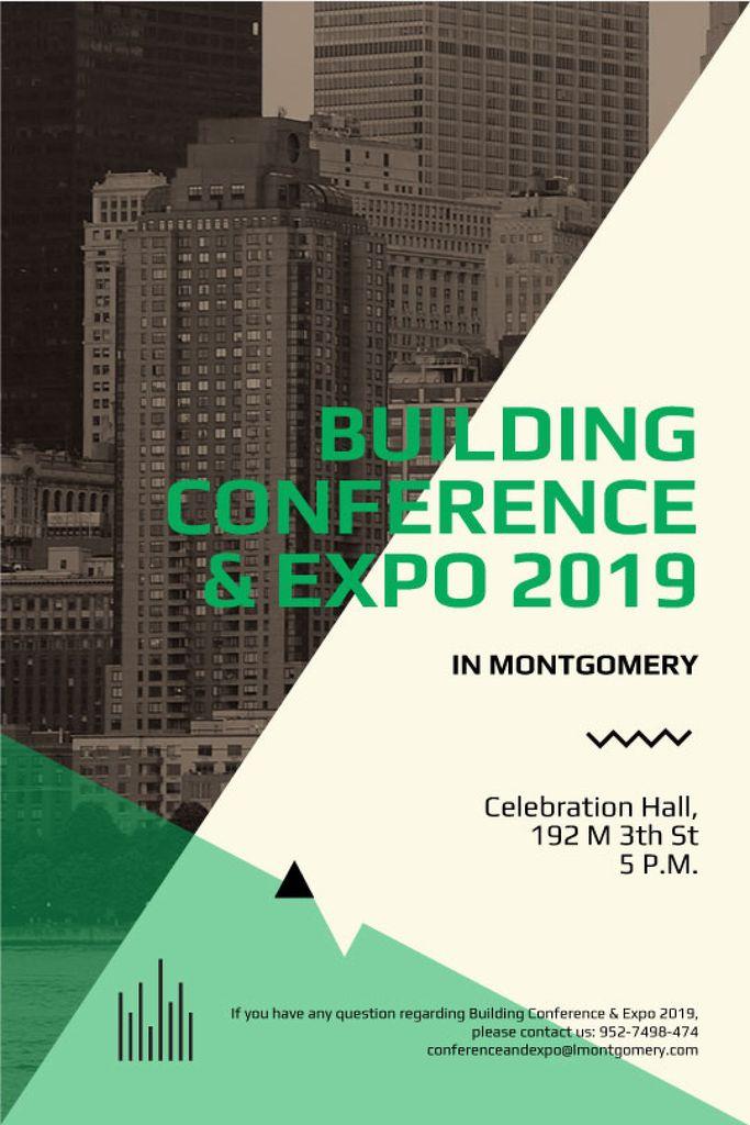 Building conference and expo banner — Créer un visuel