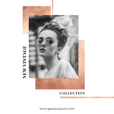 New Vintage Collection Sale with Stylish Girl Instagram – шаблон для дизайна