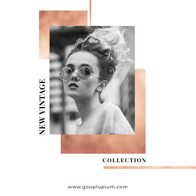 New Vintage Collection Sale with Stylish Girl Instagram Modelo de Design