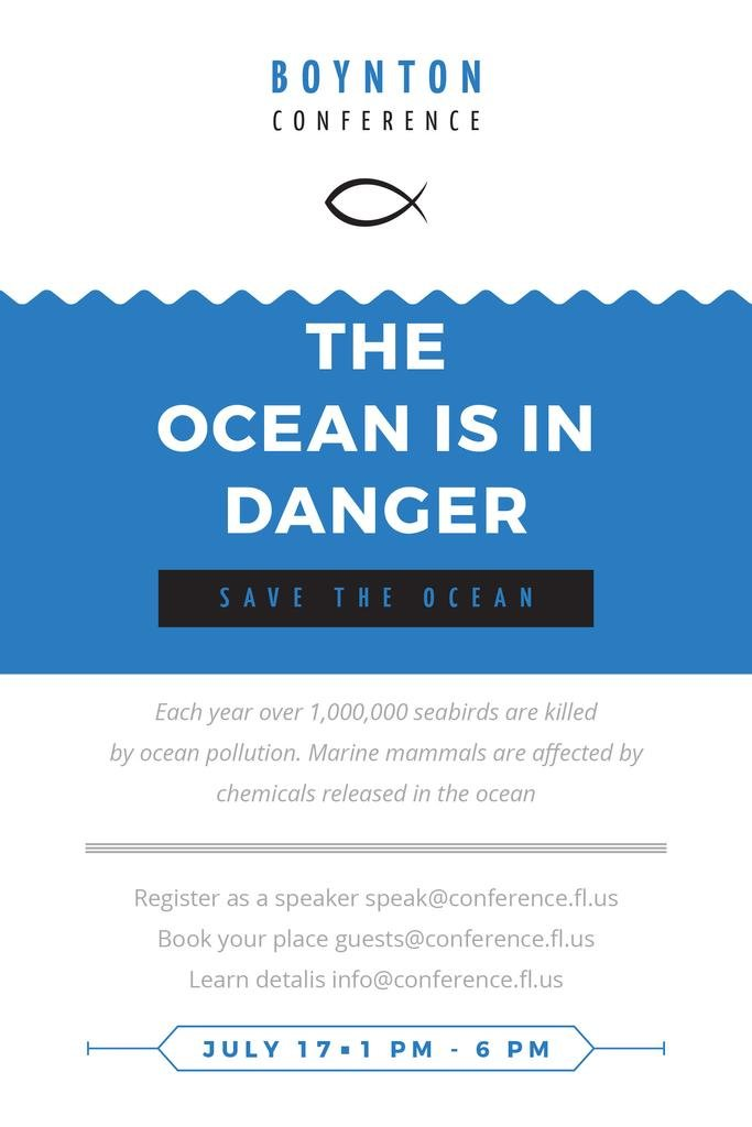 Boynton conference the ocean is in danger — Maak een ontwerp