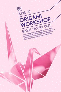 origami workshop banner