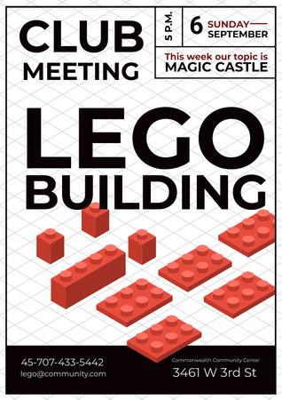 Lego building club meeting Posterデザインテンプレート