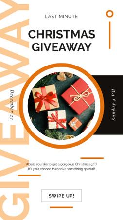 Modèle de visuel Christmas gift boxes - Instagram Story