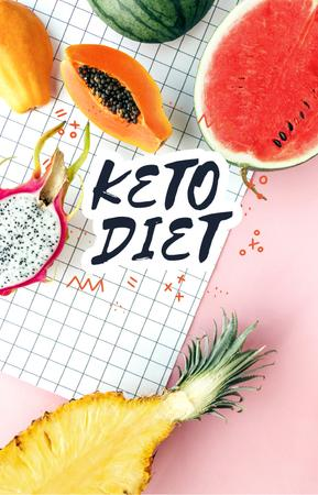 Plantilla de diseño de Summer Fruits for diet IGTV Cover
