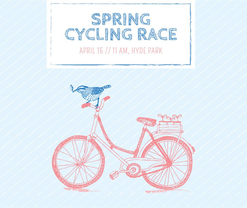 Spring cycling race announcement — Crear un diseño