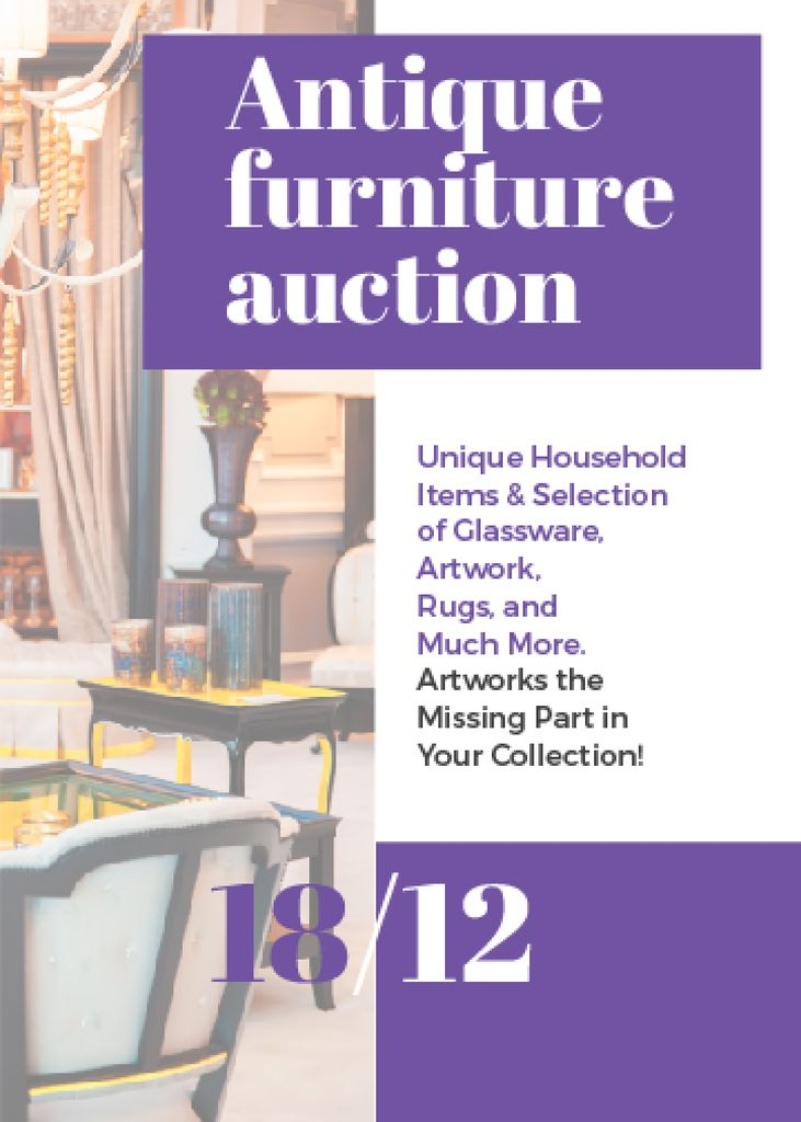 Antique Furniture Auction — Створити дизайн