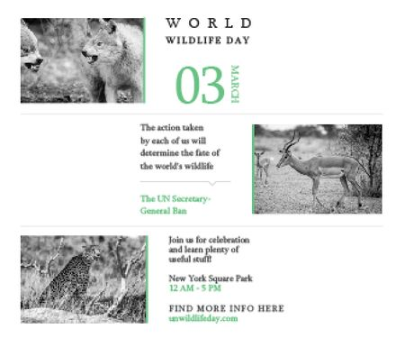 Template di design World wildlife day Large Rectangle