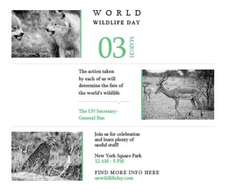 Ontwerpsjabloon van Large Rectangle van World wildlife day