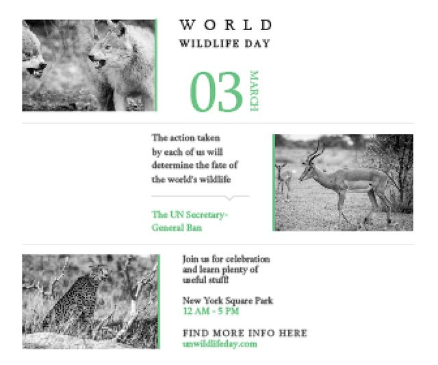World wildlife day Large Rectangle Design Template