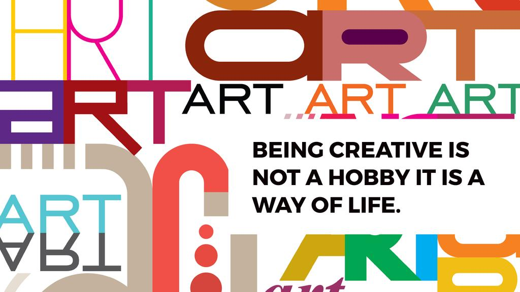 Creativity Quote on colorful Letters — Crea un design