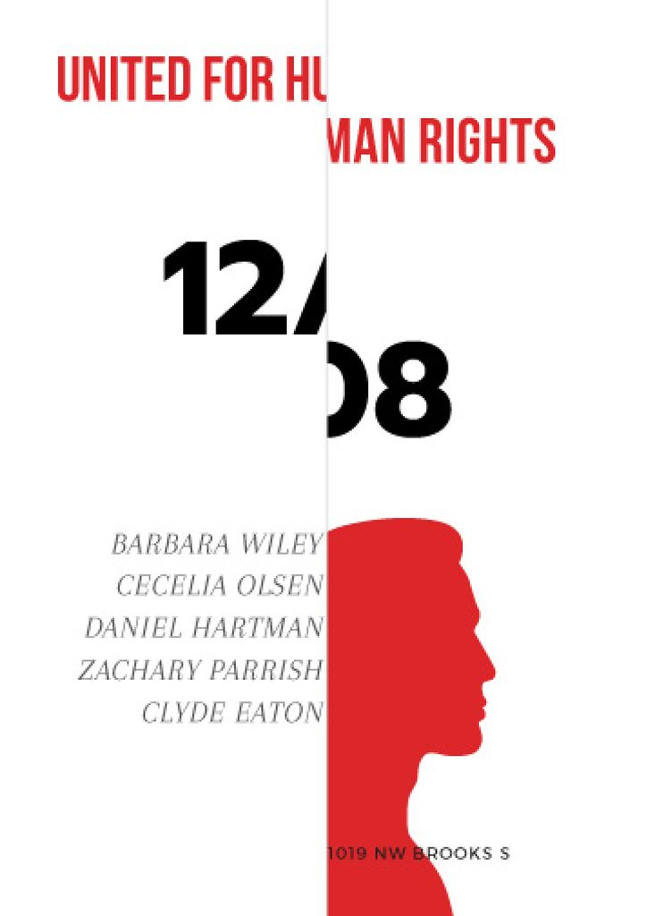Human Rights Conference Announcement Man Silhouette | Flyer Template — Создать дизайн