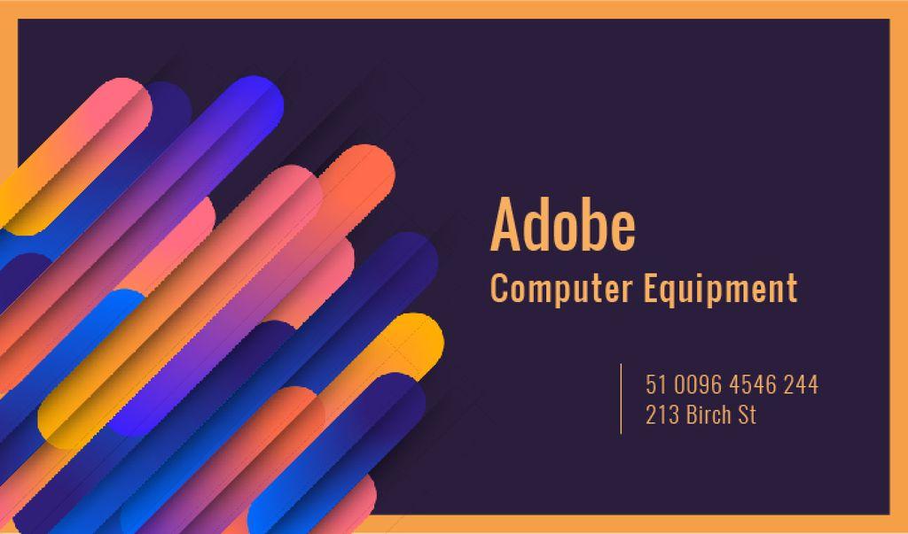 Computer Equipment Colorful Geometric Pattern — Створити дизайн