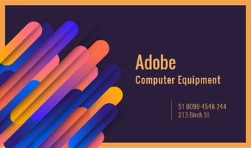Computer Equipment Colorful Geometric Pattern | Business Card Template