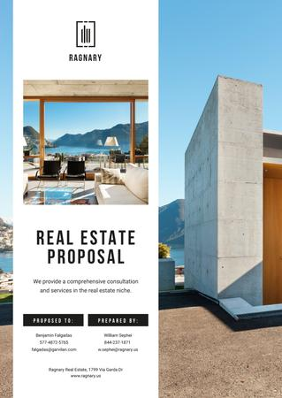 Plantilla de diseño de Real Estate offer with modern Building Proposal