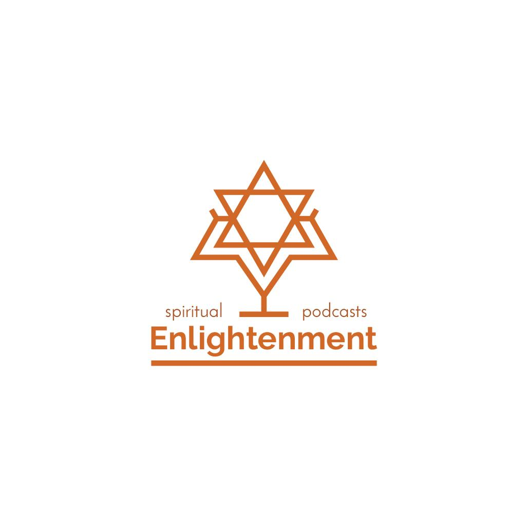 Religious Podcast Star of David Icon Logo – шаблон для дизайну