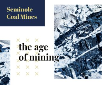 Mining Industry Black Coal Pieces | Large Rectangle Template