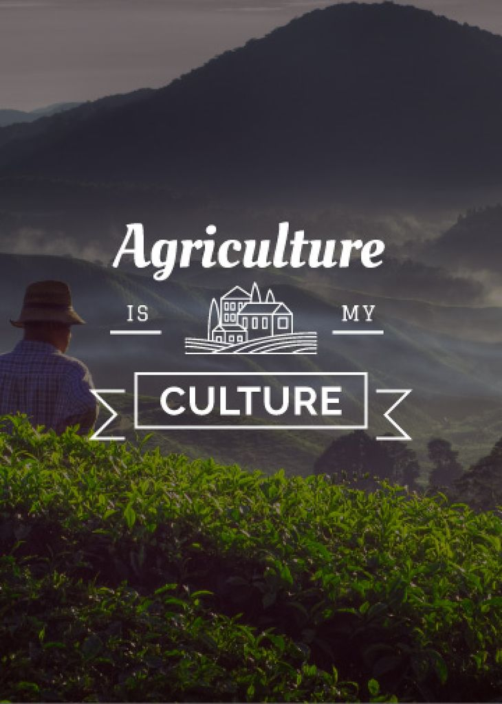 Agriculture is my life poster with farmer — Create a Design