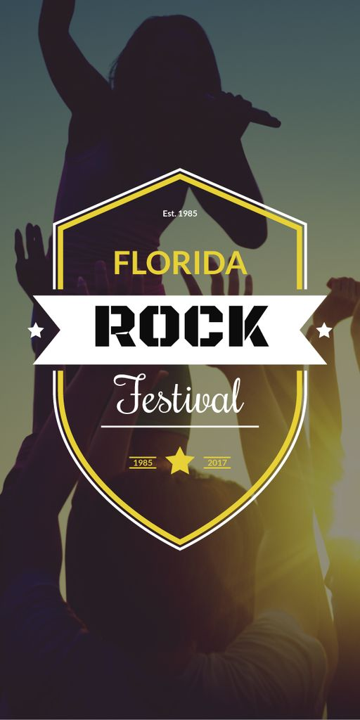 Florida rock festival poster — Create a Design