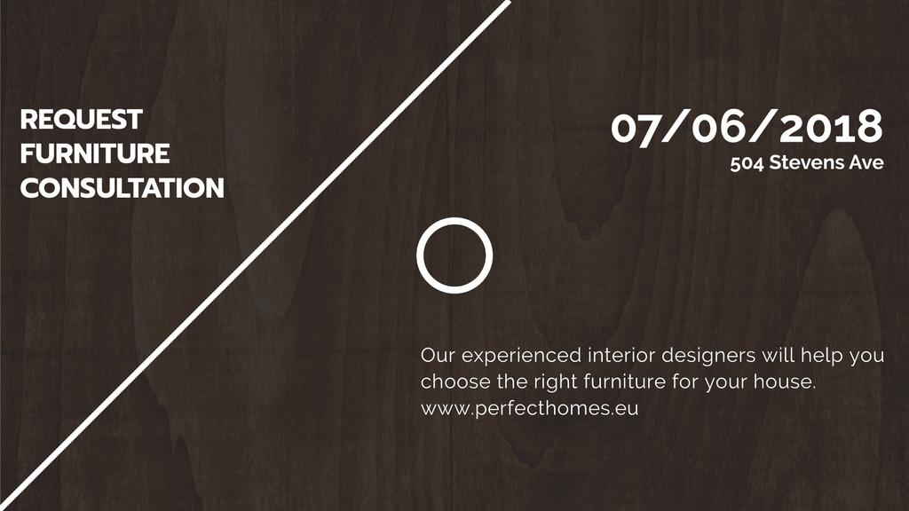 Furniture Company ad on Dark wooden surface — Create a Design
