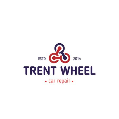 Plantilla de diseño de Car Repair Services with Wheels in Triangle Animated Logo