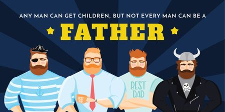Fun citation about a father Image Design Template