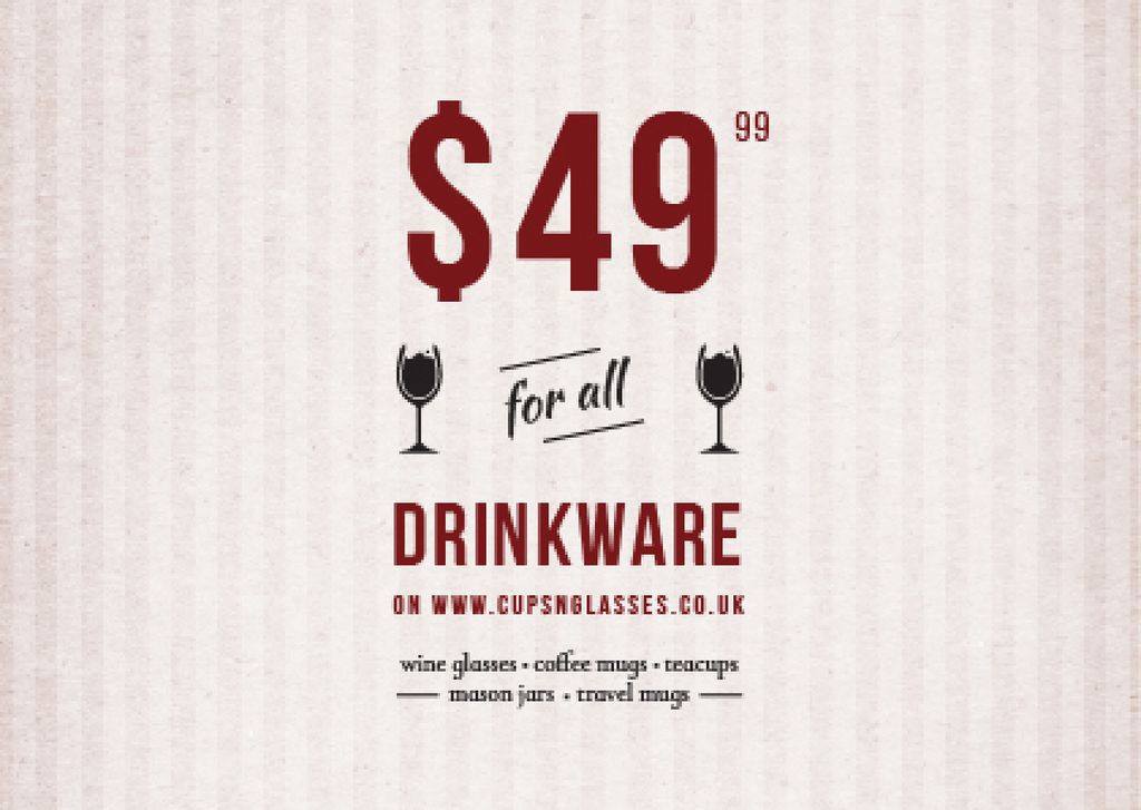 Drinkware for all shop — Créer un visuel