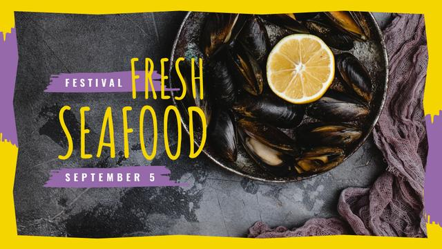 Template di design Mussels served with lemon FB event cover