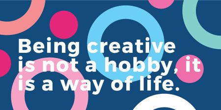 Plantilla de diseño de Citation about how to be a creative Image
