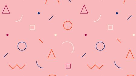 Plantilla de diseño de Simple retro pattern in pink Zoom Background