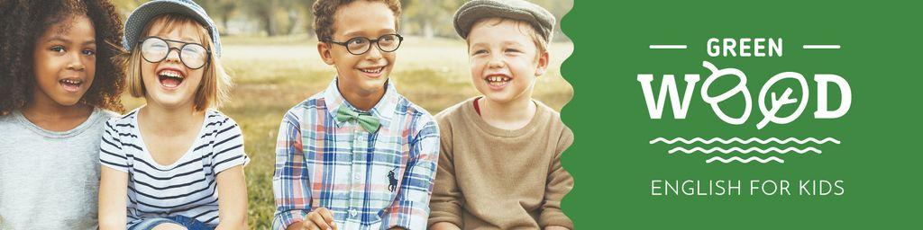 Happy kids outdoors — Maak een ontwerp