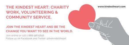 Plantilla de diseño de Charity event Hand holding Heart in Red Tumblr
