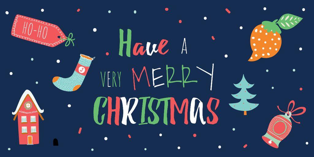 Merry Christmas card — Modelo de projeto