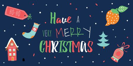 Template di design Merry Christmas card Image