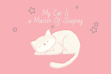 Citation about sleeping cat