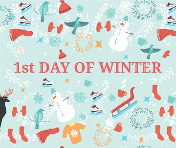 first day of Winter illustration