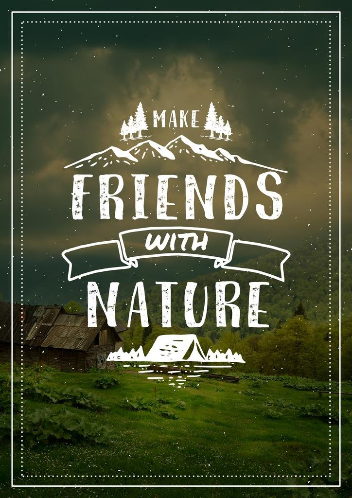 Make friends with Nature — Créer un visuel
