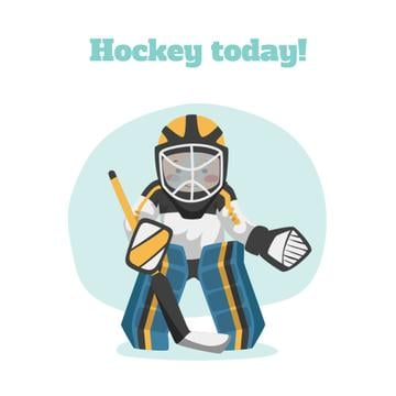 Man playing hockey