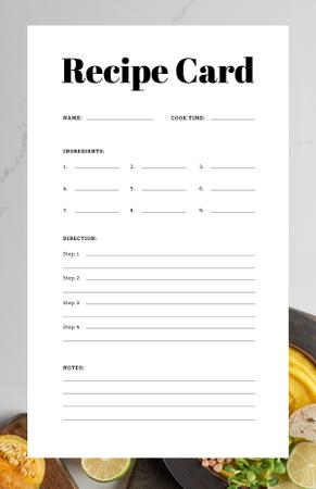 Plantilla de diseño de Pumpkin Porridge with Lime and Bread Recipe Card