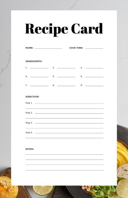 Modèle de visuel Pumpkin Porridge with Lime and Bread - Recipe Card