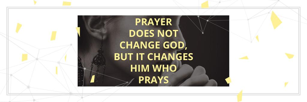 Religion citation about prayer — Crear un diseño