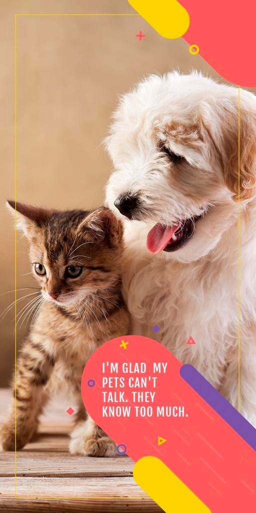 Citation about not talking pets  — Créer un visuel