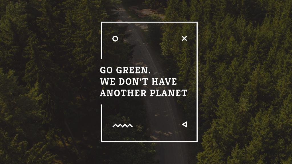 Citation about green planet — Создать дизайн
