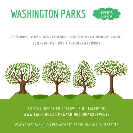 Modèle de visuel Events in Washington parks - Instagram