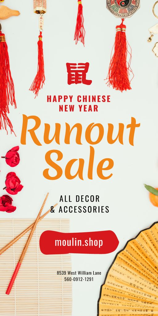 Chinese New Year Sale Asian Symbols — Maak een ontwerp