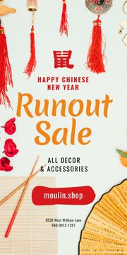 Chinese New Year Sale Asian Symbols | Blog Graphic Template