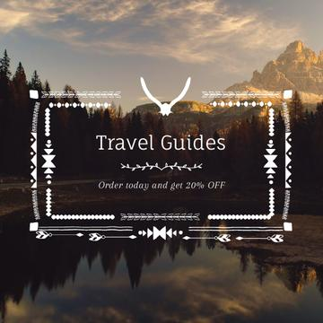 Wilderness Tour Scenic Lake Mountains Bird View | Square Video Template