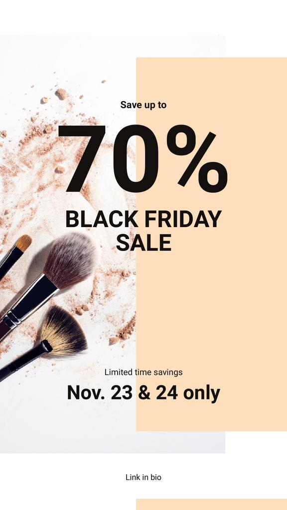Black Friday Sale Brushes and face powder — Створити дизайн
