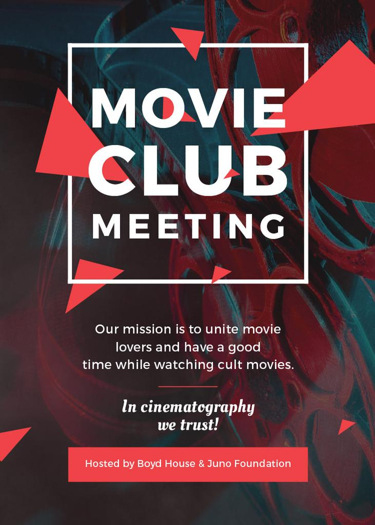 Movie Club Meeting Flyer Template Design Online Crello