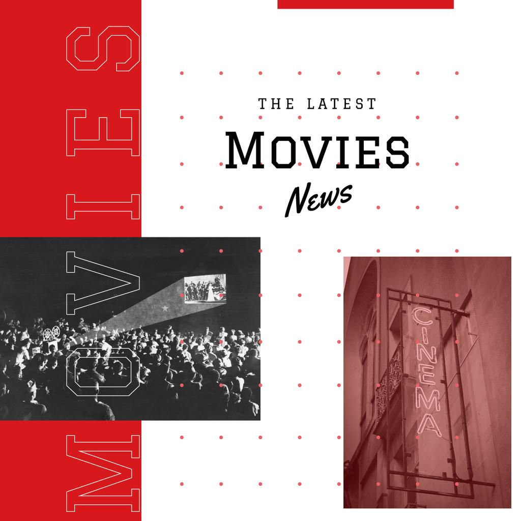 Movies News Ad People watching Cinema — Crear un diseño